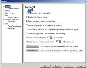 QTP General Settings