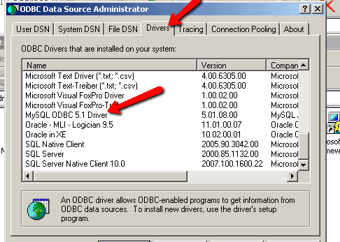 QTP Database Testing DSN Connection String Examples MySQL
