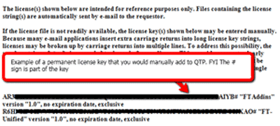 Hp License Key Example