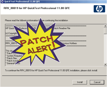 Post image for ALERT – QTP 11 Run Results Viewer Patch (RRV_00019) Released.