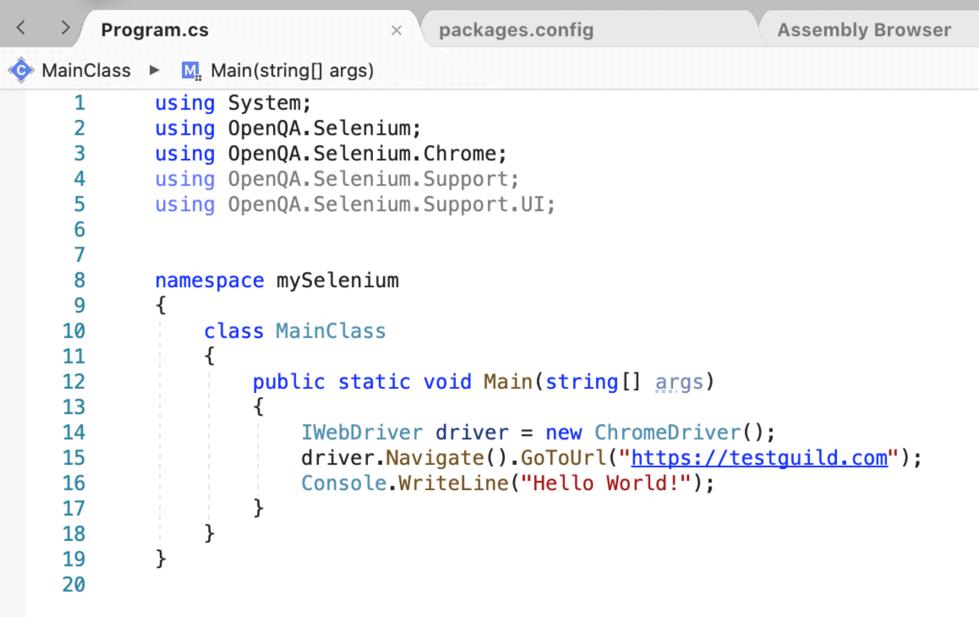 Chrome Driver Path Code