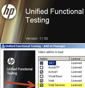 UFT 11.5 Web Services Add-in