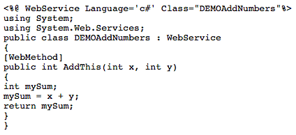 how to create a web service