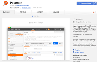 API Testing with Postman Chrome (must have extension)