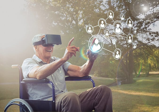 AccessibilityTestingTools Man VR Wheelchair Pic