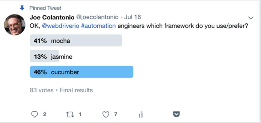 Twitter WebDriver Poll