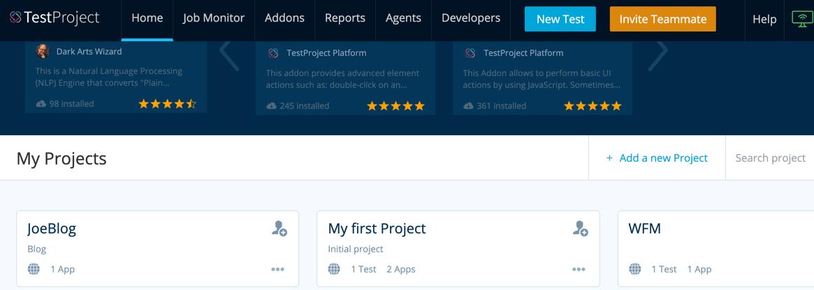 TestProject Portal