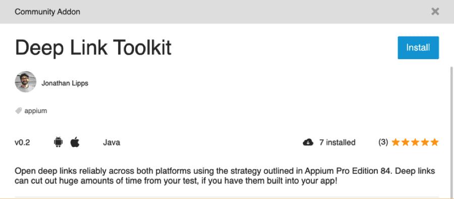 Jonathan Lipps TestProject Add-in