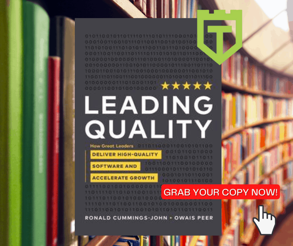 Leading Quality book by Ronald Cummings-John